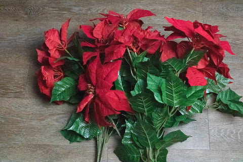 holiday floral, faux floral, christmas decor