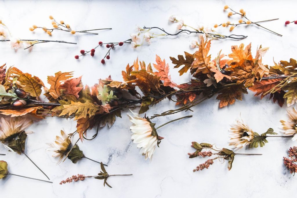 floral décor for the fall
