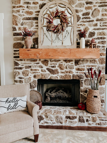 fall mantle, fall home, throw pillow