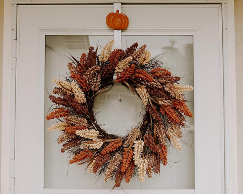 fall wreath, fall front door