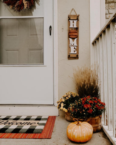 fall front porch, fall floral, fall inspo