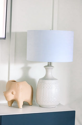 lamp, tabletop décor, home accents, accent table, living room
