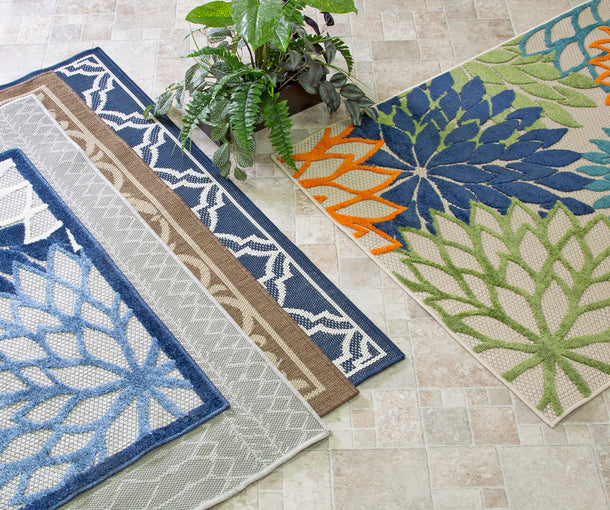 indoor and outdoor rug décor