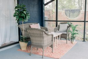 An overview of the new cozy outdoor space
