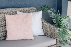 Pillows with pops of color