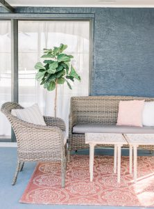 You won't want to leave this cozy outdoor space