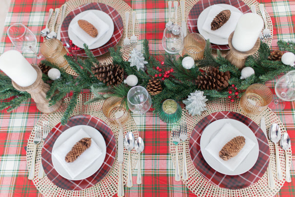 holiday table, place setting, tabletop, tablescape