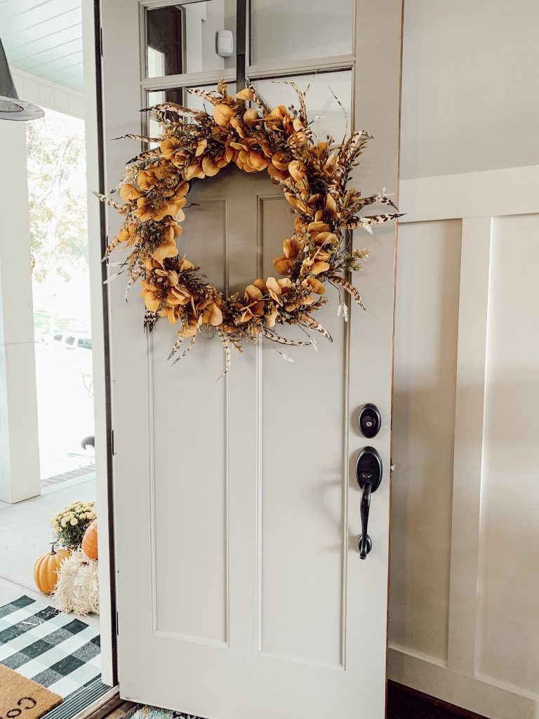 this wreath is so inviting on the front door
