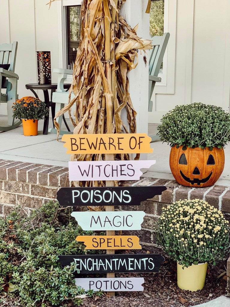yard stake, halloween decor, pumpkin planter