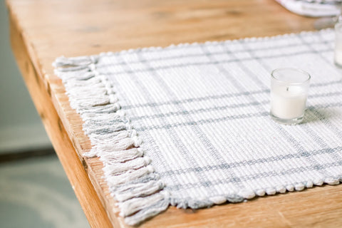 table placemat, table runner, Americana table, summer tablescape, candles