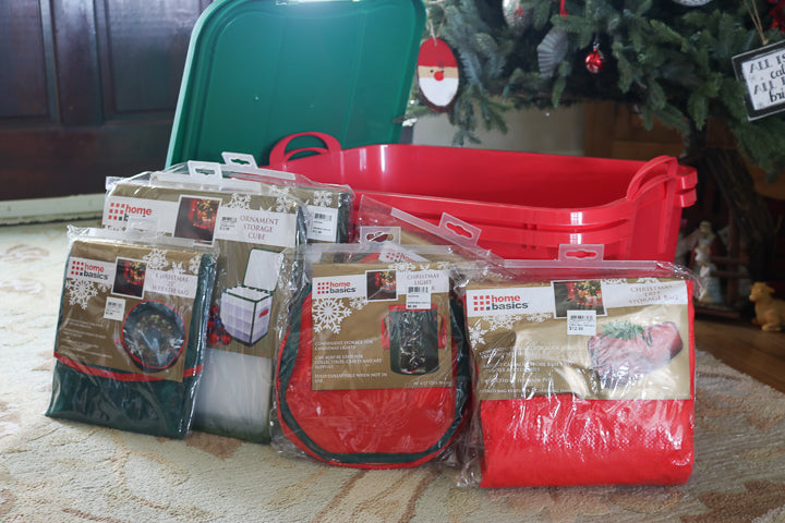 christmas storage items from old time pottery