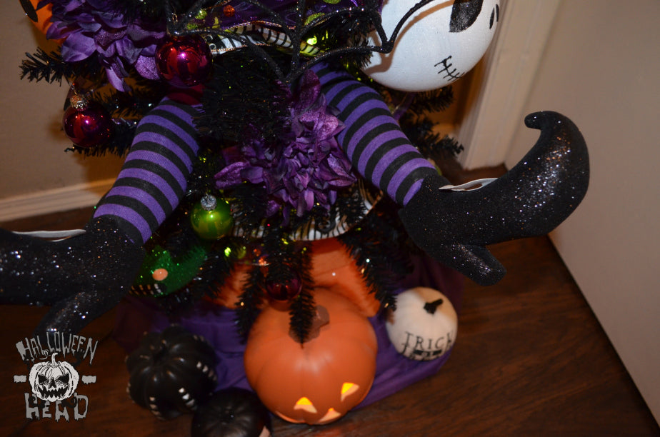 Spooky socks fit for a witch