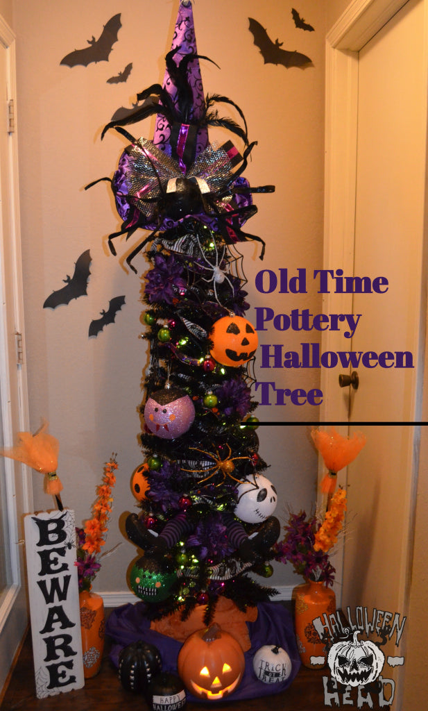 An Old Time Pottery Halloween Tree