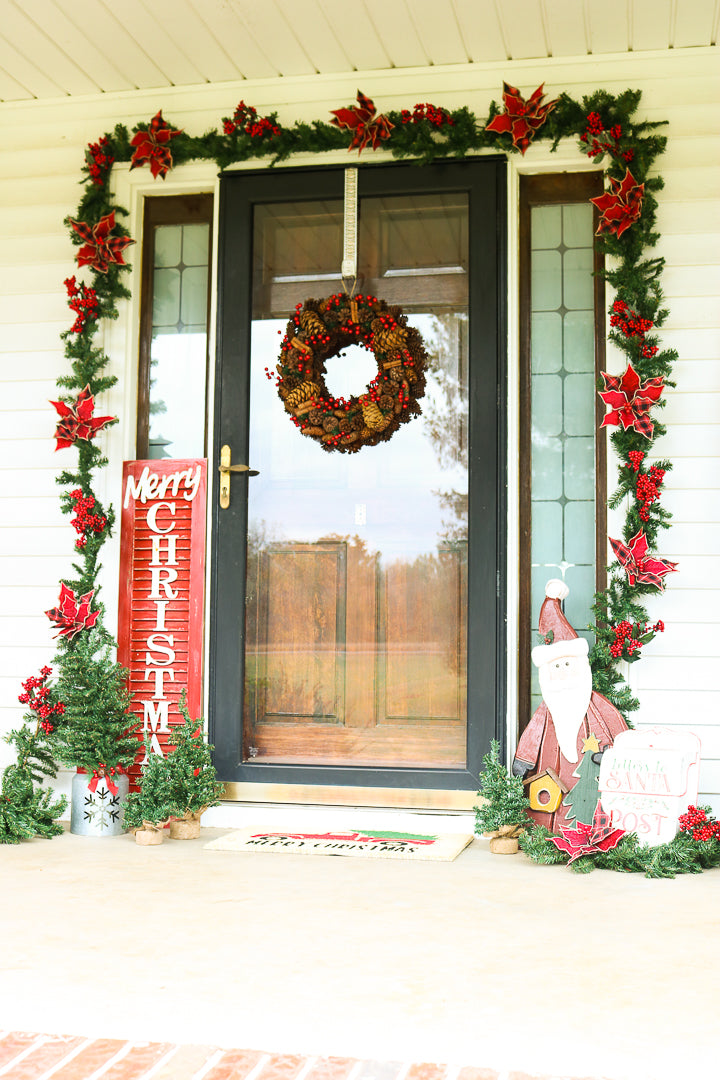 front porch christmas deocrations
