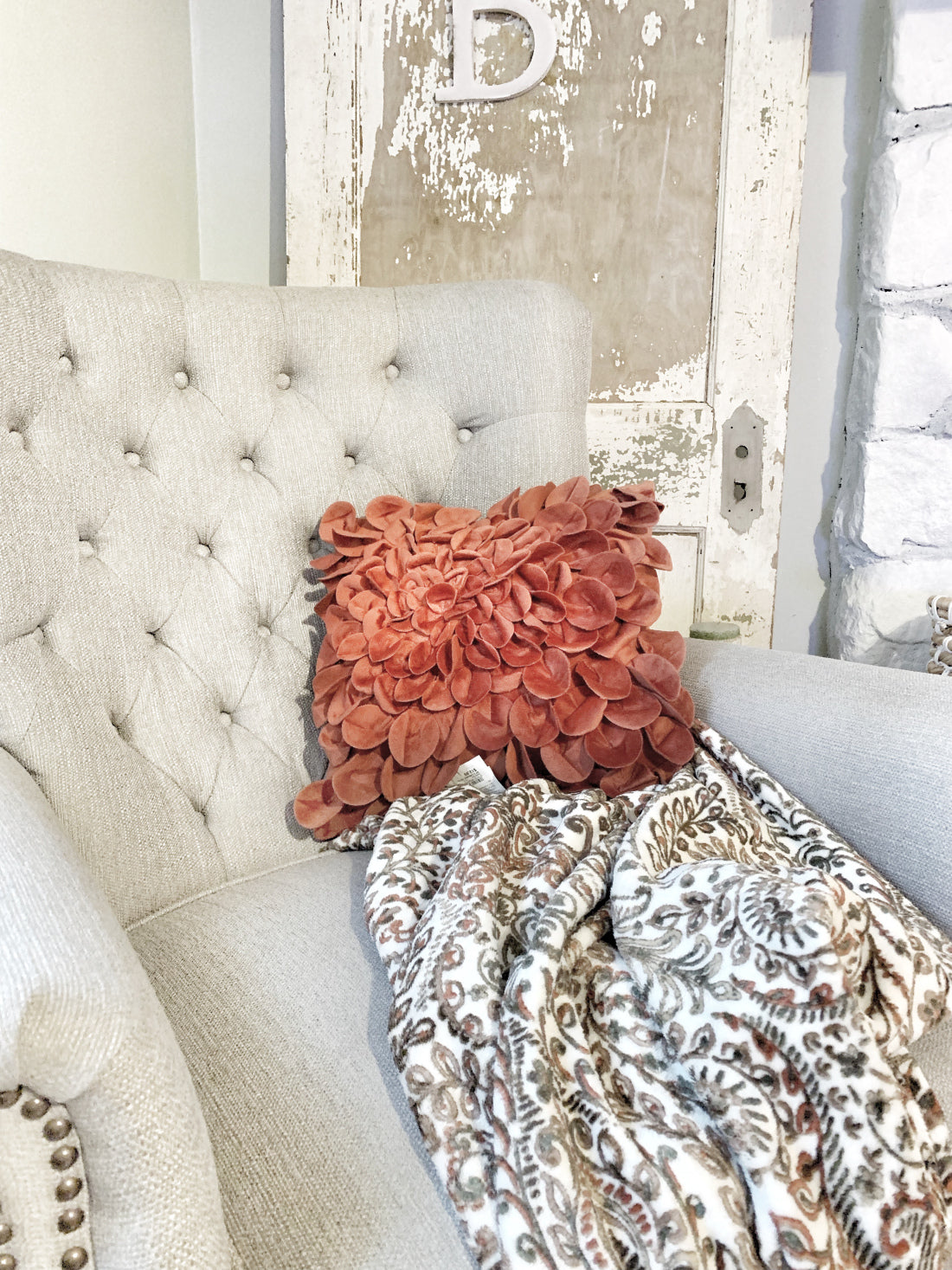 a floral-inspired throw pillow