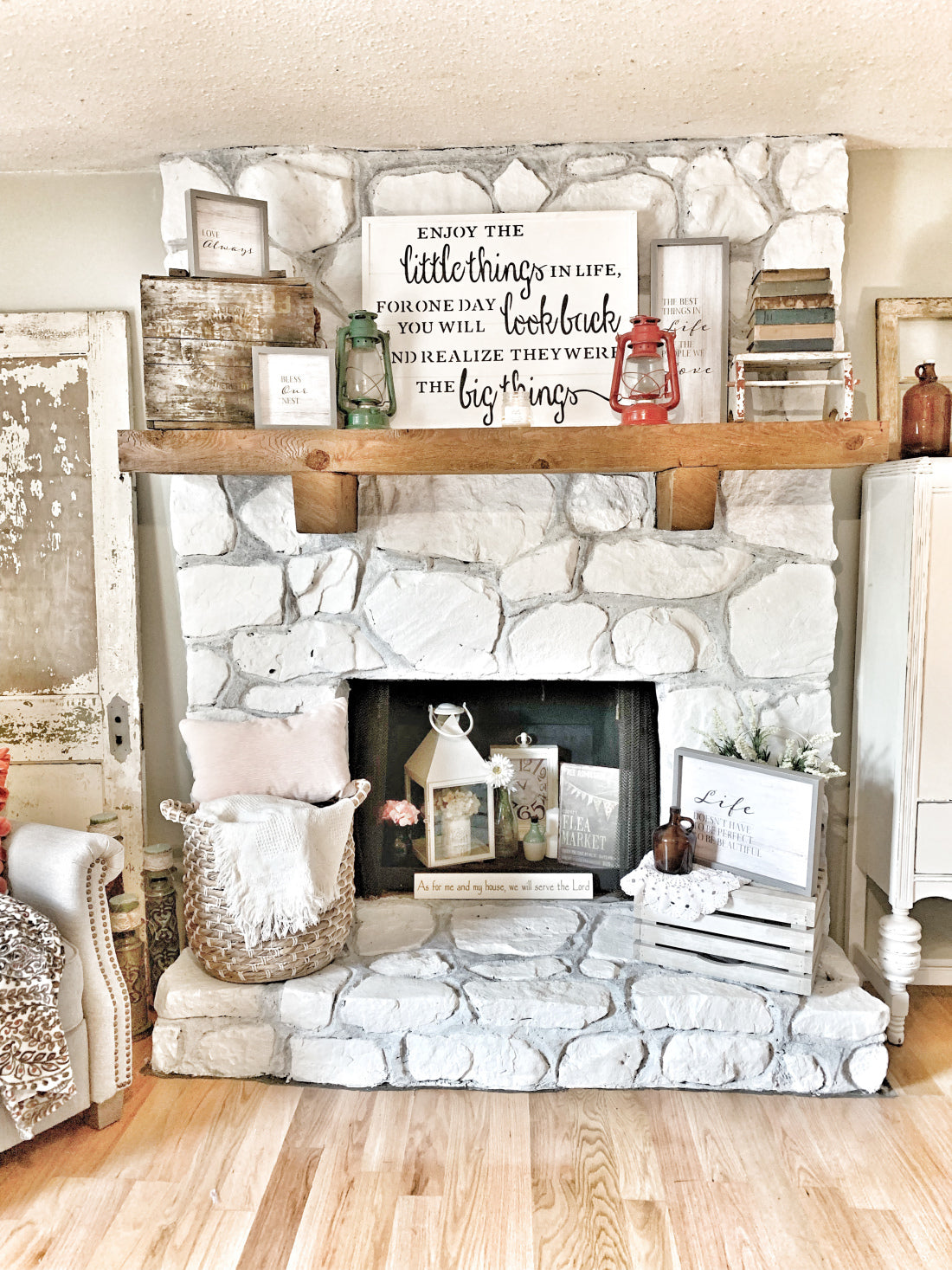 Living Room Refresh, Fireplace, Mantle, Home decor