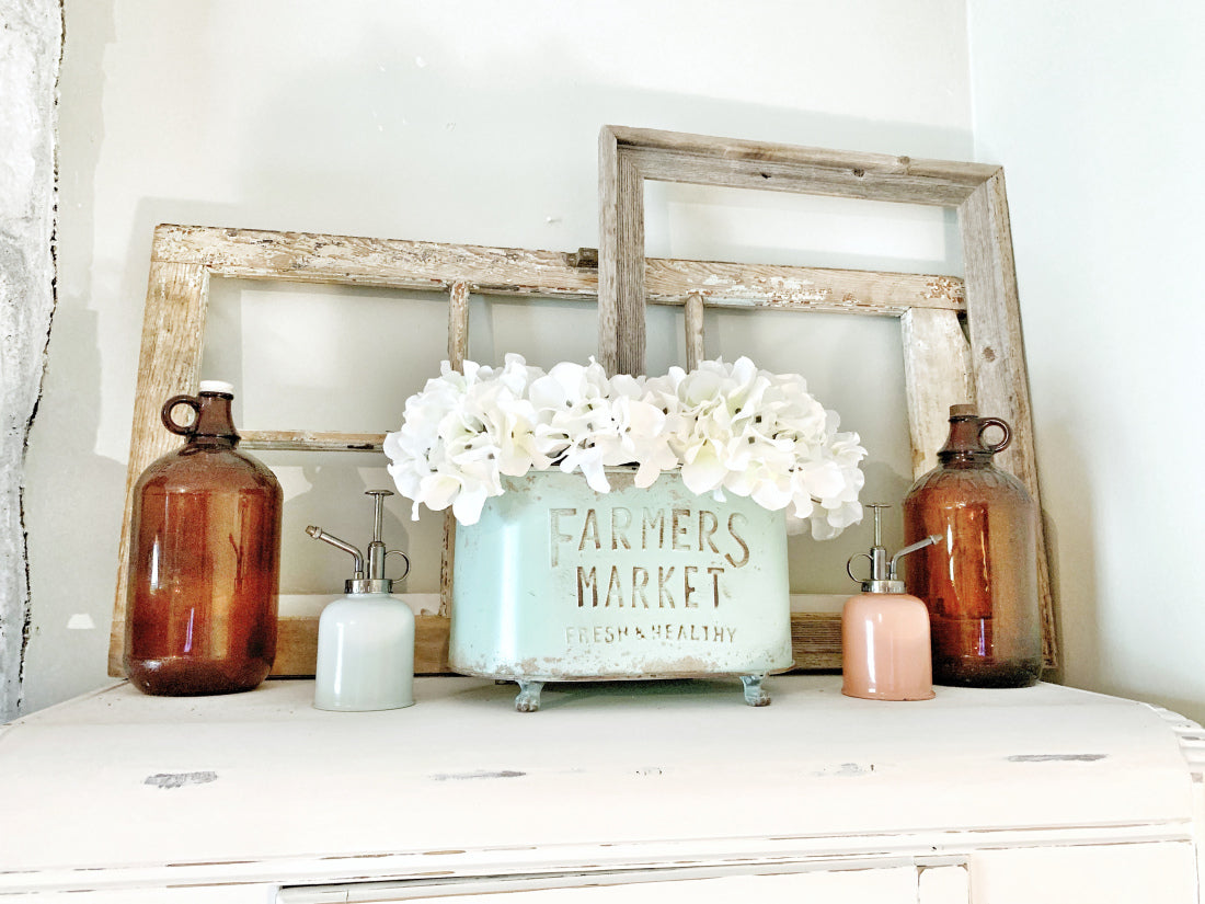 faux flowers with neutral colors