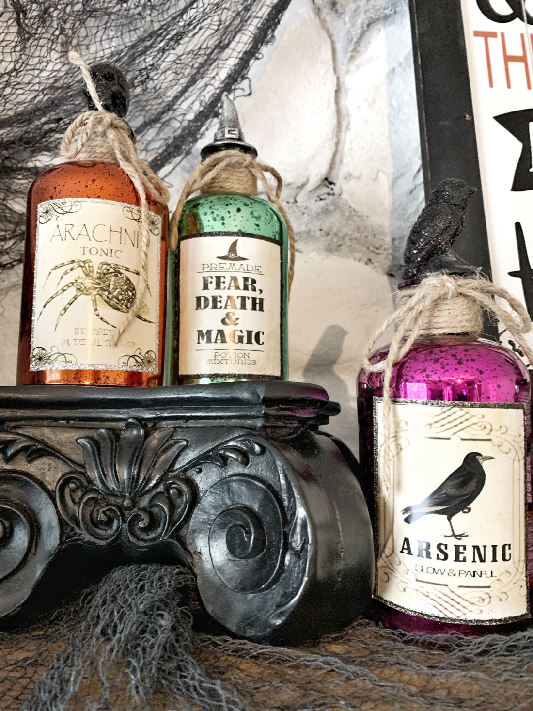 Witchy potions for your Halloween display