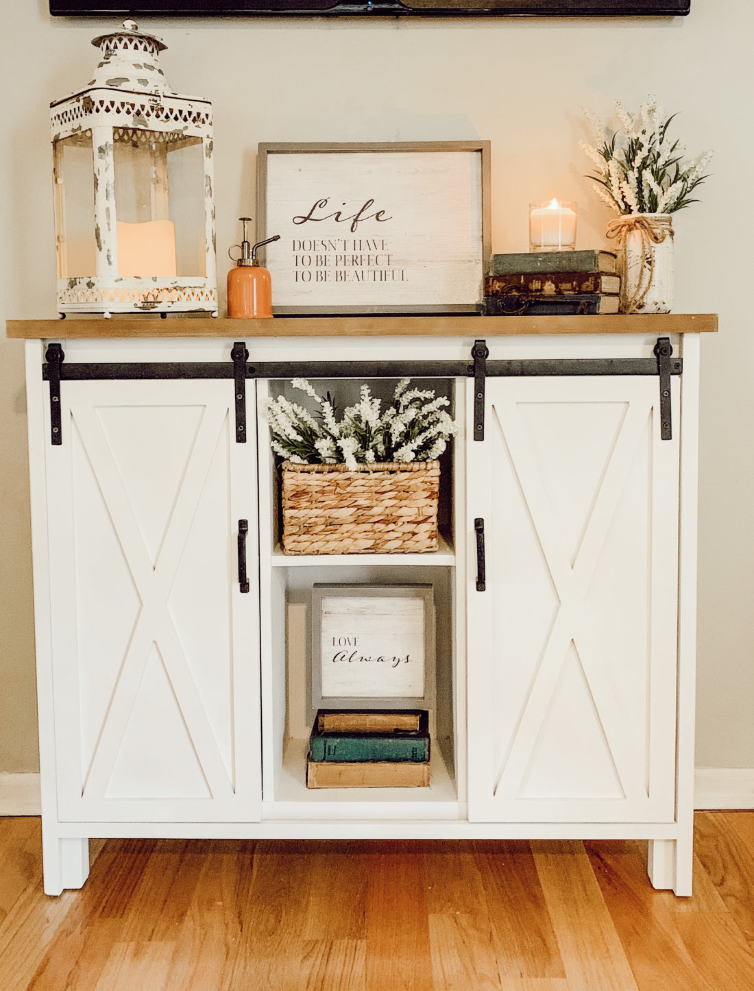 better, brighter storage for the entertainment center