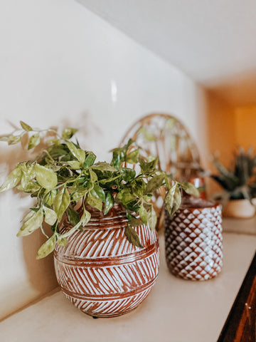 vases, home accents, greenery, kitchen décor