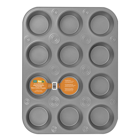 Baker Eze® Non-Stick 12-Cup Muffin Pan