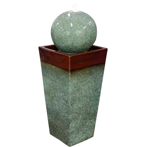"37"" Ceramic Fountain with LED"