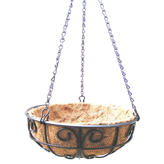 Heavy Duty Hanging Planter with Coconut Liner