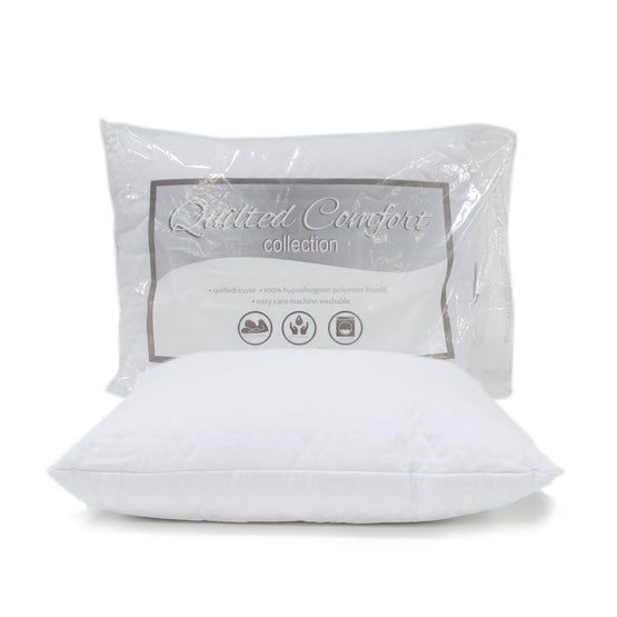 Quilted Comfort Collection Jumbo Quilted Bed Pillow