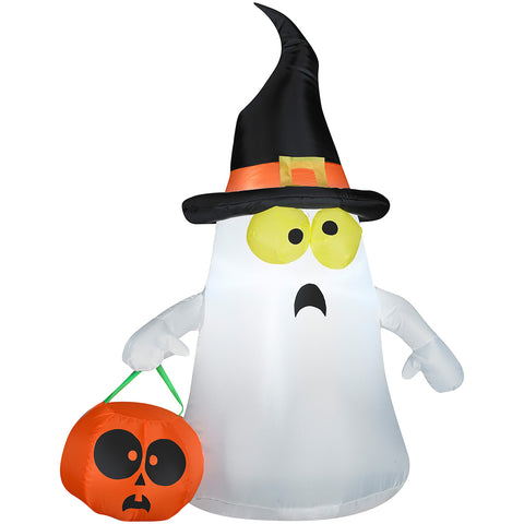 "42"" Airblown Ghost with Witch Hat"