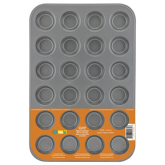 Baker Eze® Non-Stick 24-Cup Mini-Muffin Pan