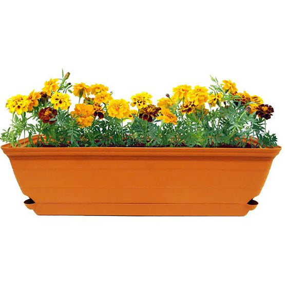 "24"" Self Watering Terra Window Box Planter (2 colors)"