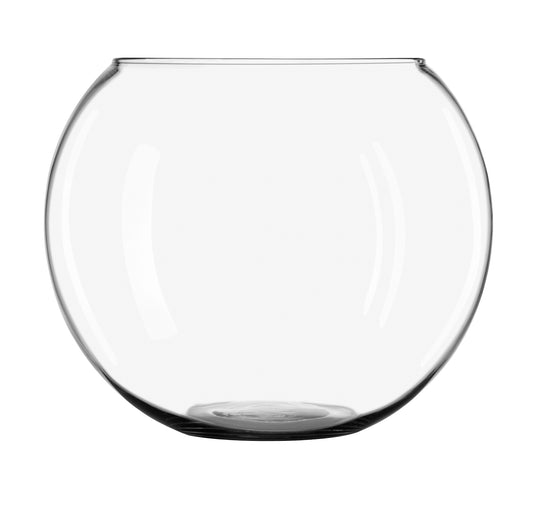 "10""Clear Glass Bubble Ball Vase"