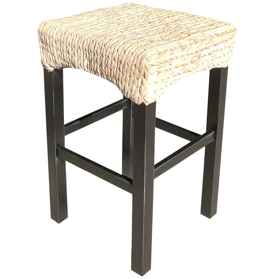 White Aruba Backless Barstool (2 Heights)
