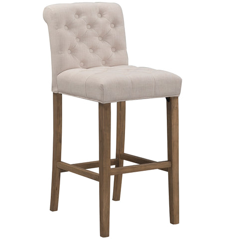 Erin Barstool-Tufted Linen (2 sizes and 2 colors)