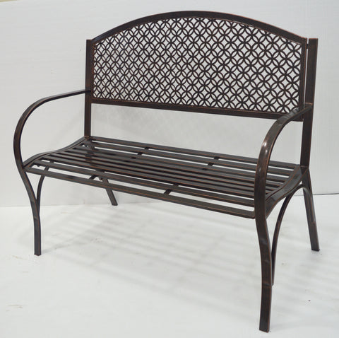 "43"" Stamp Metal Bench"