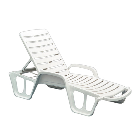 White Resin Chaise Lounge