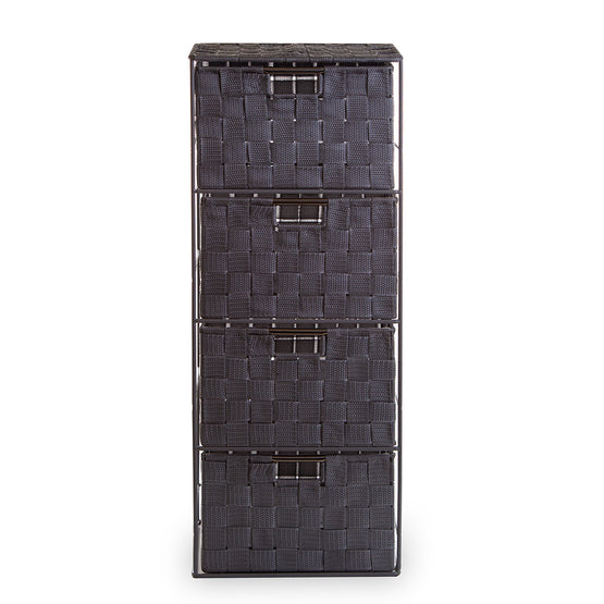 Woven 4-Drawer Tower
