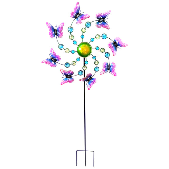 "46"" Butterfly Spinner Stake"