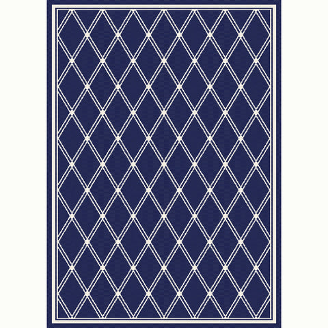 Savannah Navy Diamond Indoor Outdoor Rug