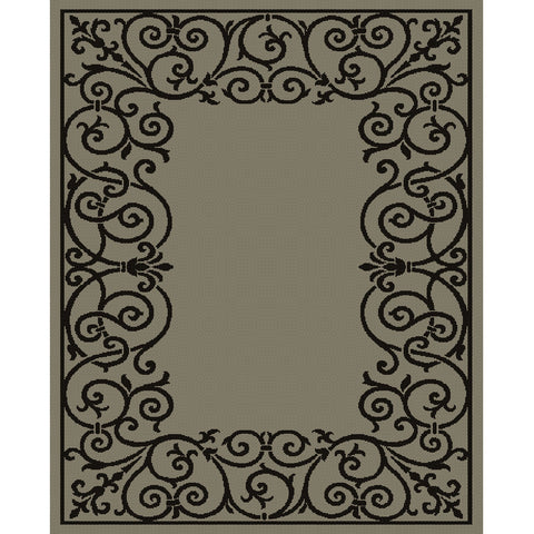 Savannah Black Grey Indoor Outdoor Rug