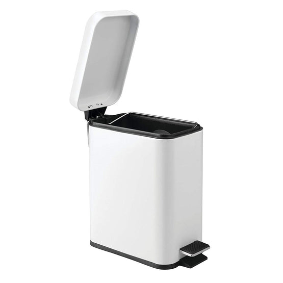 5 Liter Rectangular Trash Can with Step (3 Colors)