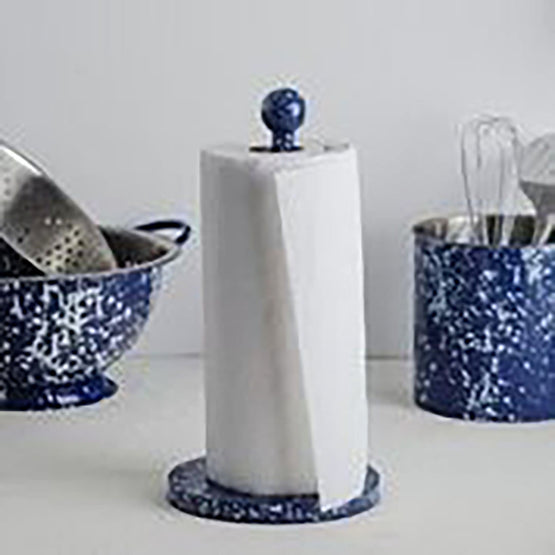 Paper Towel Holder Blue Speckle