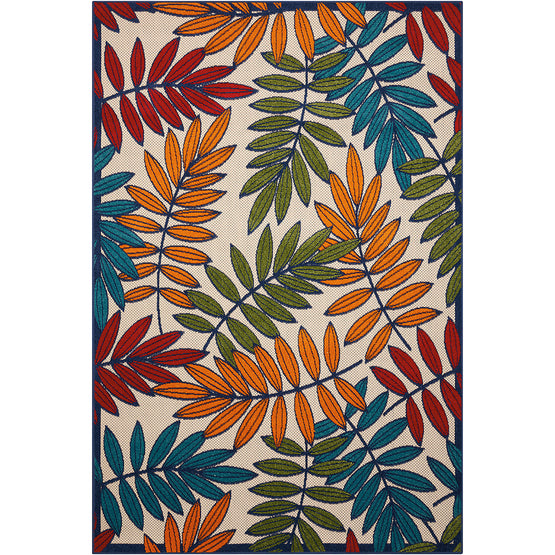 Aloha Multi Fern Indoor Outdoor Rug