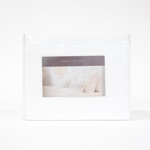 4 Piece King 300 TC Cotton Sheet Set (6 colors)