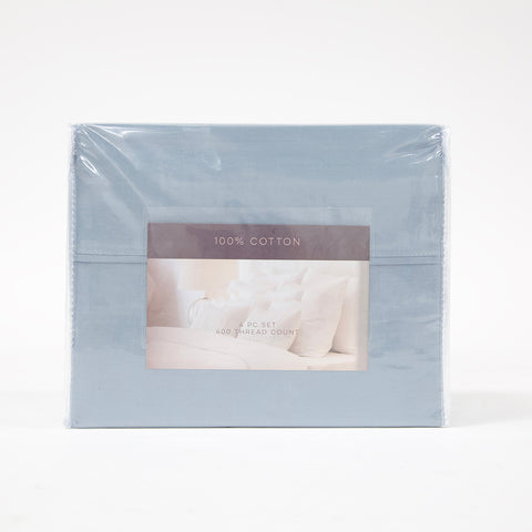4 Piece Queen 400TC Cotton Sheet Set (4 colors)