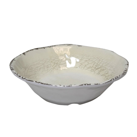 8 inch Rustic Melamine Cereal Bowl (5 colors)