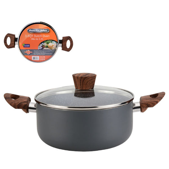 Proctor Silex Dutch Oven 4 Quart Non Stick Aluminum Grey (3 sizes)