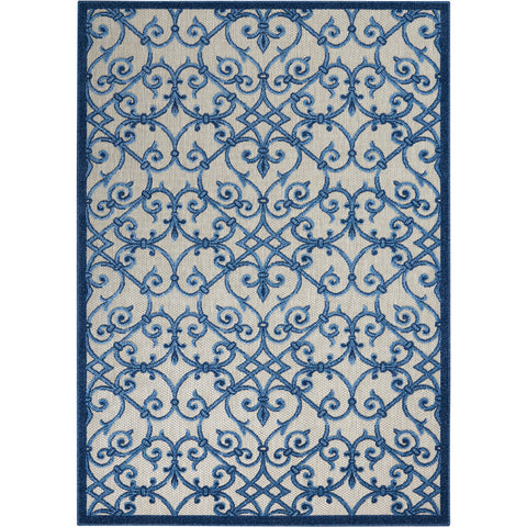 Aloha Blue Indoor Outdoor Rug