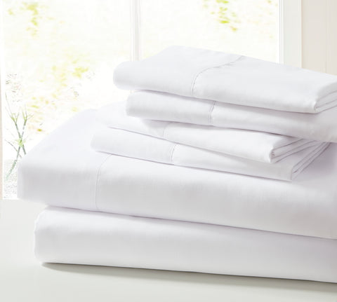 4 Piece Twin Microfiber Solid Sheet Set (5 colors)