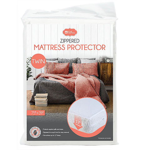 "Zippered PVC Mattress Cover 12"" Deep (4 Sizes)"